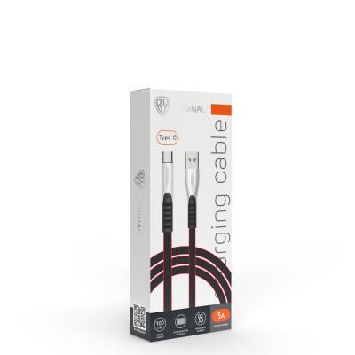 Кабель для зарядки Кобра, Type-C, 1м, 2А, пластик TPE, коробка-1