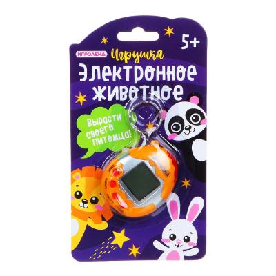 "214-026 ИГРОЛЕНД Игрушка ""Электронное животное"", 2AG13, пластик, 4,8х6см, 4 цвета"
