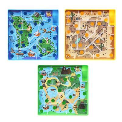 214-034 ИГРОЛЕНД Игры в дорогу мини лабиринт, пластик, 10х10х2,1см, 3 дизайна