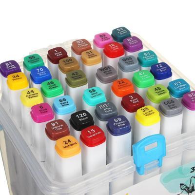 284-244 ХОББИХИТ Набор маркеров для скетчинга, пластик, 13х13х17см, 36 цветов