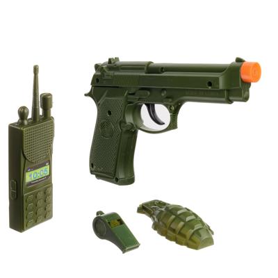261-700 ИГРОЛЕНД Набор оружия: пистолет, граната, рация, свисток, 4пр.,ABS,PE , 11х18х2,5см