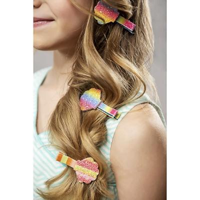 321-312 BERIOTTI Зажим для волос 4шт, полиэстер, сплав, 5см, 4-6 дизайнов