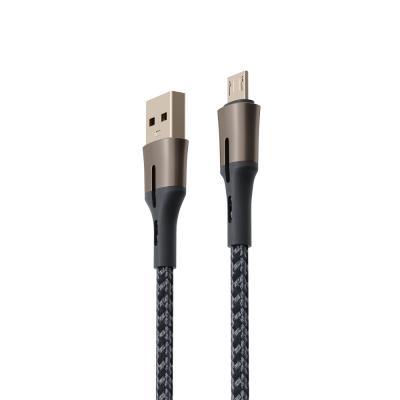 Кабель для зарядки, Авангард, 1 м, 3А, QC3.0, MICRO-USB, плетение, штекер металл-2