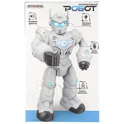 296-080 ИГРОЛЕНД Игрушка интерактивная в виде Робота, свет, звук, движение, ABS, 3AA, 36х21х11см