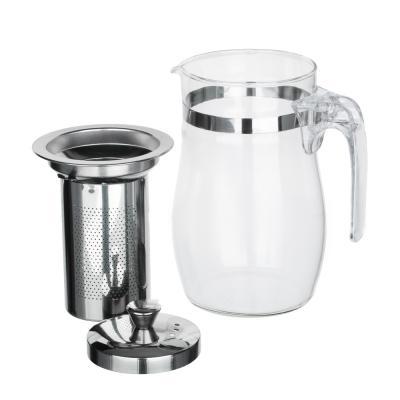 850-196 VETTA Чайник заварочный 750мл с ситечком, нерж.сталь, стекло, полистирол
