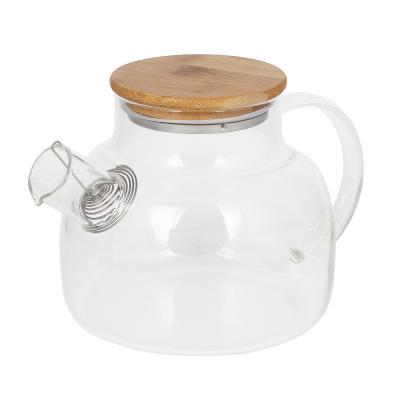 850-198 VETTA Чайник заварочный 1000мл, с металлическим фильтром, стекло