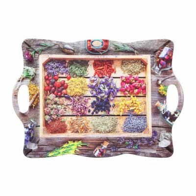862-420 VETTA Цветочная фантазия Поднос, пластик,   43,5х30,5х3,5см, 2 дизайна