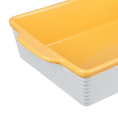 826-342 MILLIMI Форма для запекания и сервировки прямоугольная с ручками, керамика, 31х19,5х7,5см, 2 цвета