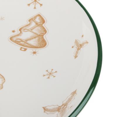 820-122 MILLIMI Пряничный домик Блюдо круглое 22х3см, керамика