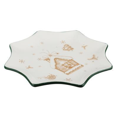 820-130 MILLIMI Пряничный домик Блюдо в форме звезды 25,5х2см, керамика