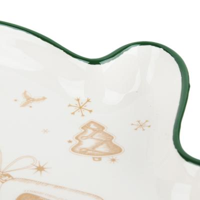 820-131 MILLIMI Пряничный домик Блюдо в форме варежки 20х17,5х3см, керамика