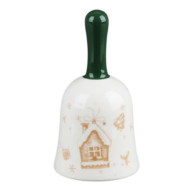 820-133 MILLIMI Пряничный домик Колокольчик декоративный 7х7х13см, керамика