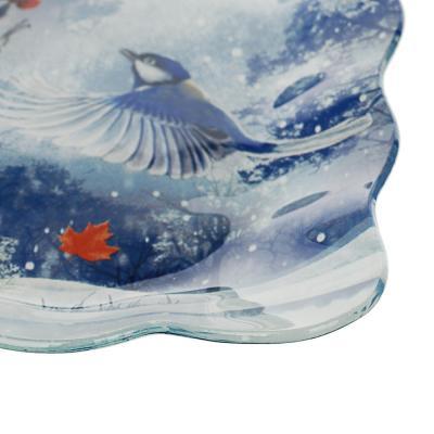 820-149 Зимушка-зима Блюдо квадратное 20х2см, стекло