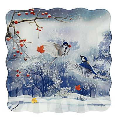 820-150 Зимушка-зима Блюдо квадратное 25х2см, стекло