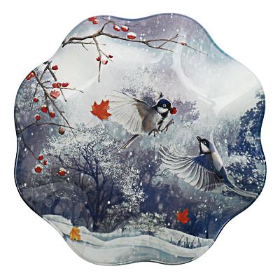 820-151 Зимушка-зима Салатник круглый 19х3,5см, стекло