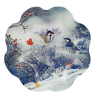 820-152 Зимушка-зима Салатник круглый 23х4,5см, стекло