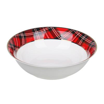 820-163 MILLIMI Шотландка Набор салатников 17,5см, 2шт, костяной фарфор