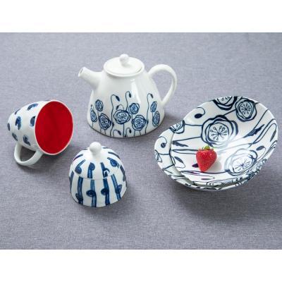 824-464 MILLIMI Индиго Чайник заварочный, 1100мл, 19,5х16х13,5см, керамика