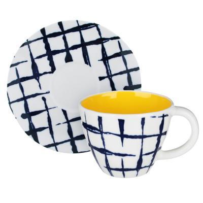 824-467 MILLIMI Индиго Набор чайный 2пр, чашка 270мл, блюдце 15см, керамика