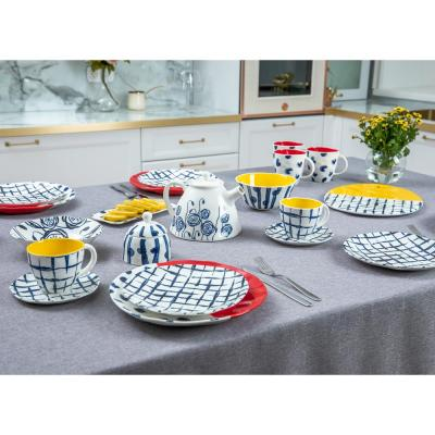 824-469 MILLIMI Индиго Блюдо прямоугольное, 22х10х1,5см, керамика