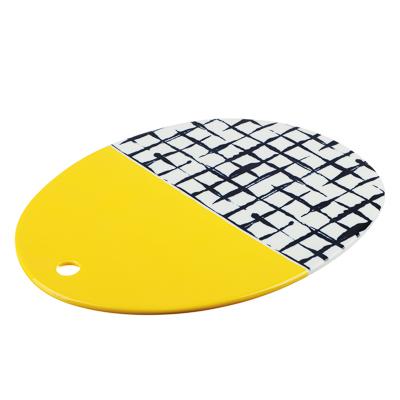 824-473 MILLIMI Индиго Блюдо сервировочное, 32х25х1см, керамика
