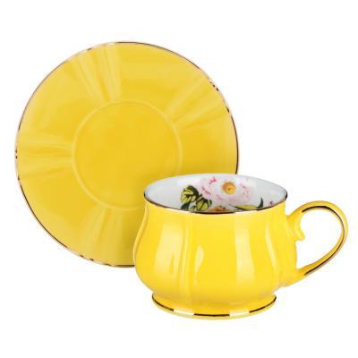 802-086 MILLIMI Тюльпан Набор чайный 12 пр., 220мл, 15см, костяной фарфор