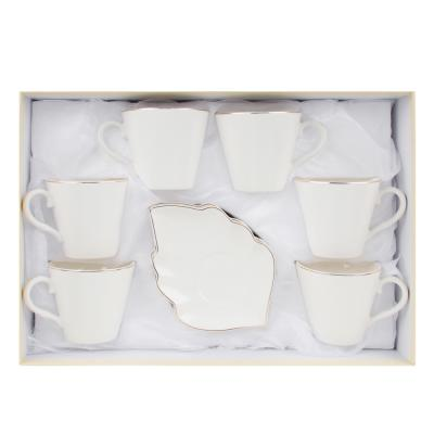 802-093 MILLIMI Лист вайт Набор чайный 12пр., 220мл, 16x11,5см, костяной фарфор