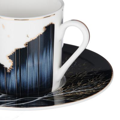 802-103 MILLIMI Триумф Набор кофейный 4пр., 100мл, 12,5см, костяной фарфор