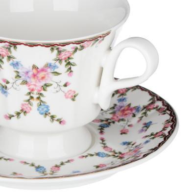 802-104 MILLIMI Роза Набор чайный 12 пр., 220мл, 15см, костяной фарфор