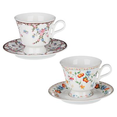 802-106 MILLIMI Розовая весна Набор чайный 2 пр., 220мл, 15см, костяной фарфор, 2 дизайна