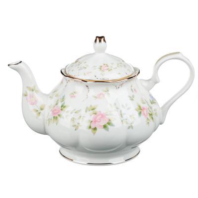 802-113 MILLIMI Вуаль Набор чайный 14 пр., чашка 240мл, 15см, чайник 1250мл, сахарница 310мл, кост. фрф
