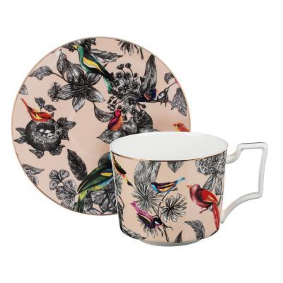 802-118 MILLIMI Очарование Набор чайный 14 пр., чашка 300мл, 15см, чайник 1200мл, сахарница 350мл, кост.фрф