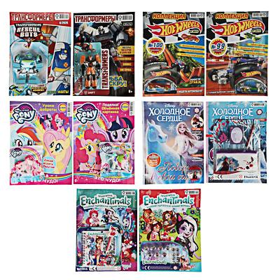 428-049 Журнал с игрушкой Мультфильмы, 2 шт, бумага, 5 дизайнов