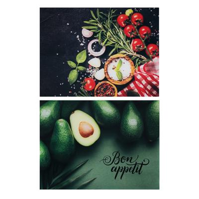 853-206 VETTA Овощное ассорти Доска разделочная стеклянная, 30х40х0,4см, 2 дизайна