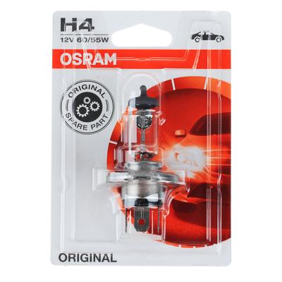 703-078 Автолампа галогеновая OSRAM H4 12V, 60/55W, P43t-38, блистер, 1 шт