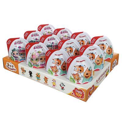 201-247 FRUITLS TOY Мармелад 10гр в пластиковом яйце с игрушкой, 2 вида ТРИ КОТА/LOL