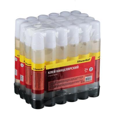 586-019 Клей жидкий 40 мл, силикатный, морозоустойчивый, в пластиковом флаконе, 436140