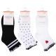 312-444 Носки женские с декором, 85%хлопок, 15%полиамид, пластик, 22-26см, 4 цвета - 3