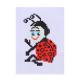 366-207 Набор для вышивания 14х10см (канва, нитки мулине, пластиковая игла), 6-12 дизайнов - 9