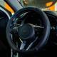 708-112 NEW GALAXY Оплетка руля, натуральная кожа + перфорированные вставки, цвет черный, размер M - 4