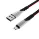 "905-043 FORZA Кабель для зарядки телефона, в виде ""кобры"", micro USB, 2А, 1м, пластик, TPE - 3"